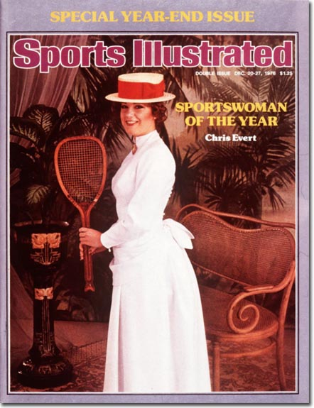 Chris Evert Tennis:  Sportswoman of the Year December 20-27, 1976